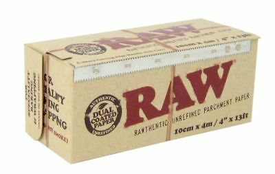 """RAW Parchment - 1 Box - Specialty Baking Wrapping Paper Small 4"""" x 13 FT Roll 4"""
