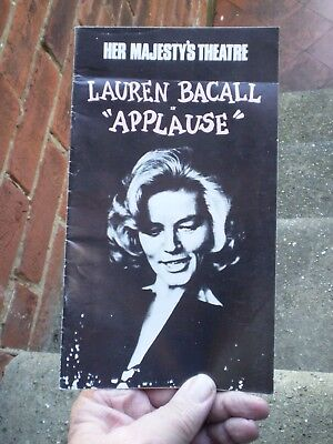 1970s Theatre Programme - Her Majesty's Theatre Lauren Bacall In Applause