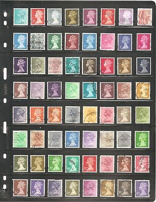 Great Britain   Sheet Of 64 Fine Used Stamps      (07)