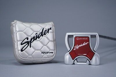 "Taylormade Spider Tour Diamond Silver Double Bend 35"" Mallet Putter W/ Headcover"
