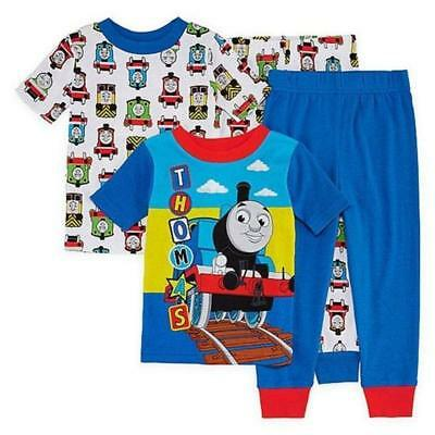 Thomas The Train 2 PC Short Sleeve Tight Fit Cotton Pajama Set Boy Size 3T 4T