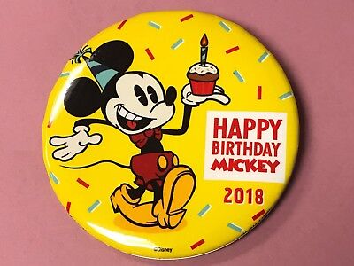 Disney Parks Mickey Mouse 90th Anniversary Happy Birthday 2018 LR Button
