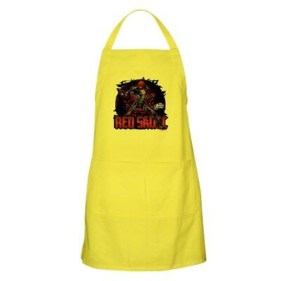 CafePress Red Skull Apron Full Length Cooking Apron (1353890174)