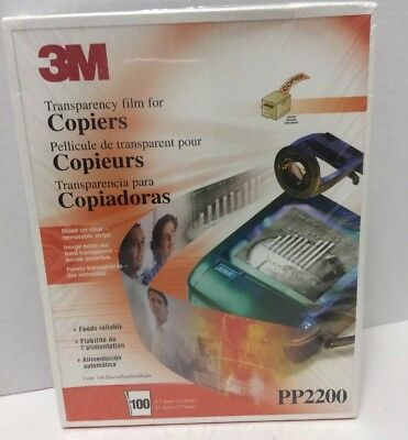 3M Transparency Film For Copiers PP2200 Count 100 8.5 X 11 New