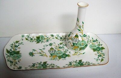 Vintage Crown STAFFORDSHIRE KOWLOON Vanity Tray & Perfume Bottle