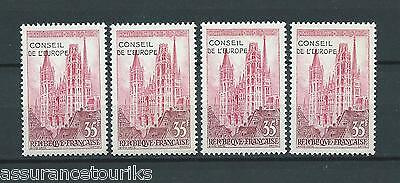 FRANCE SERVICE - 1958 YT 16 4x - TIMBRES NEUFS** LUXE