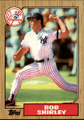 1987 Topps New York Yankees Baseball Card #524 Bob Shirley