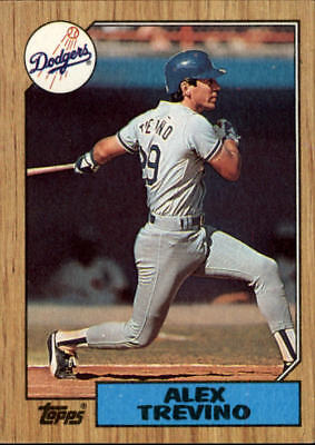 1987 Topps Baseball Card #173 Alex Trevino