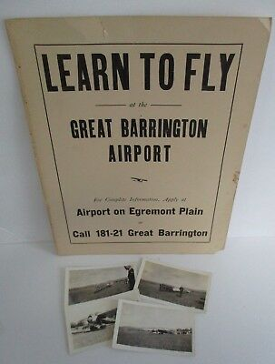 Vintage GREAT BARRINGTON (MA) AIRPORT  Poster and 1931 Airport Dedication Photos