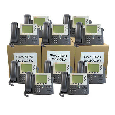 Cisco CP-7962G SCCP Used Out Of Service Working - 20 Per Lot