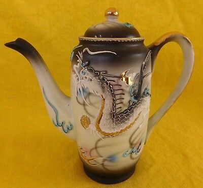 Dragon Ware Black Moriage MINI CHOCOLATE POT Wales have more items to set