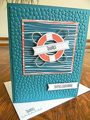 THANKS ... YOU'RE A LIFESAVER Handmade Handstamped Greeting Card