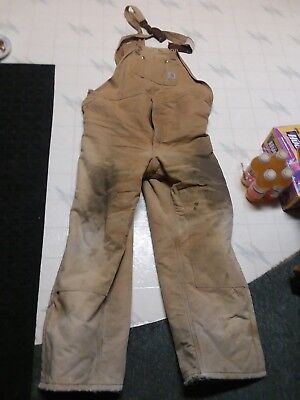 Men's 48 x 34 Carhartt work coveralls, insualted cotton duck, XL