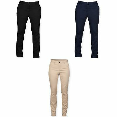 Front Row Womens/Ladies Cotton Rich Stretch Chino Trousers (RW4700)