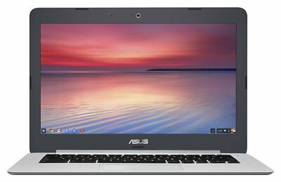 Asus C301 13.3 Inch Celeron 4GB Rm DDR3 32GB eMMC Chromebook - Grey