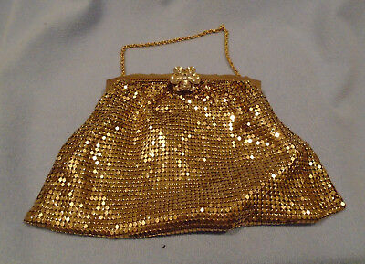 Vintage Witting And Davis Gold Mesh Purse
