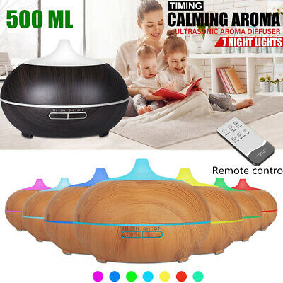 Essential Oil Ultrasonic Aroma Aromatherapy Diffuser Air Humidifier Purifier LED