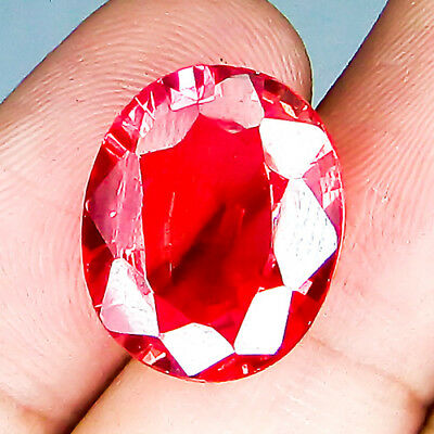 19.30 Cts Huge Top Clean Cherry Padparadscha Natural Sapphire