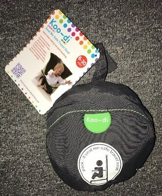 BNWT Koo-di Pack It! Seat Me Safe Travel Seat. Age 6-30 Months