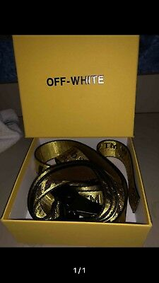 Off - White Industrial Belt Yellow