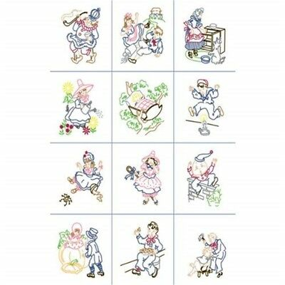 "Fairway Stamped Baby Quilt Blocks 9""x9"" 12/pkg-nursery Rhymes"