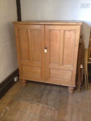 Old Vintage Antique Murphy Irish Pine  Bed Cupboard