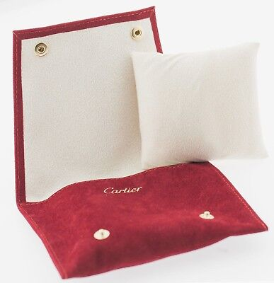 Genuine Cartier Red Travel Case / Service Pouch with Cushion Included