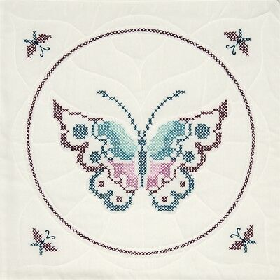 "Fairway Stamped Quilt Blocks 18""x18"" 6/pkg-butterfly"