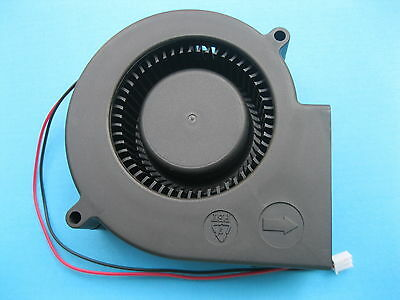 1 pcs Brushless DC Blower Fan 12V 9733S 97x97x33mm 2 Wire Sleeve-bearing New