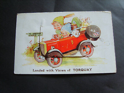 """Devon: """"loaded With Views Of Torquay"""" - Comic Pull-Out Pc - Posted 1938"""