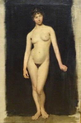 19th Century Full Length Nude Lady Studio Portrait Naked William ETTY