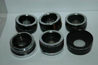 Job Lot Of Six Converter Lenses  Mixed Fittings.  Jlc97.