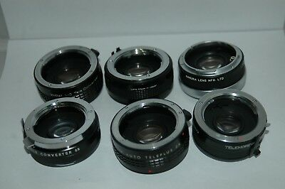 Job Lot Of Six Converter Lenses  Mixed Fittings.  Jlc99.