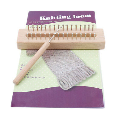 Wooden Frame Weaver Wood Knit Handmade Crafts Weaving Tool Portable New 889