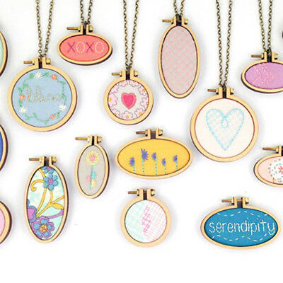 1PC Interest Wooden Cross Stitch Fix Frame Oval Hang Jewelry Exquisite Tool 889