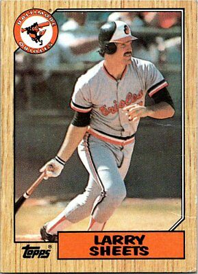 1987 Topps Baseball Card #552 Larry Sheets Orioles