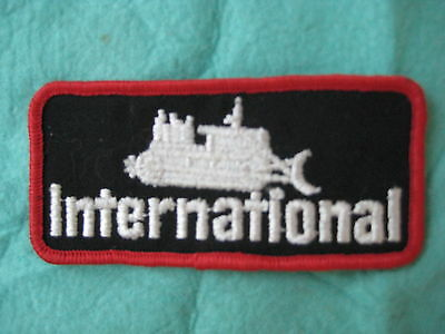 """Vintage International Heavy Equipment Tractor    Patch Sew On 4 3/8"""" X 2"""""""