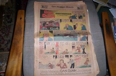 Dan Dunn 15 Sunday Full Pages 1934,35 WITH PETER RABBIT,GUMPS,WINNIE WINKLE