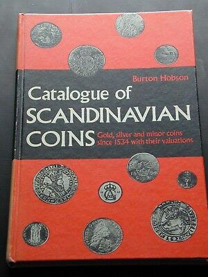 Catalog of Scandinavian Coins Hobson Hardbound 1970 1st Edition 2nd printing 128