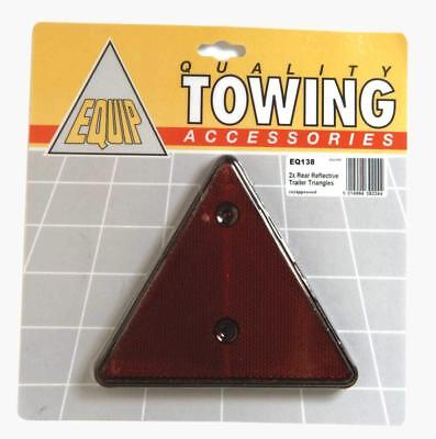 2 x Red Triangle Reflectors [MP16] Screw Type Reflectives 140 mm Tall [EQ138]!!!