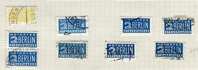 GERMANY; WEST BERLIN 1950s Stamp Lables issue fine used LOT