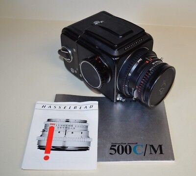 Hasselblad 500CM Medium Format SLR Camera w/ 80mm f2.8 Zeiss and Film Back