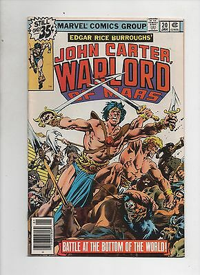 Marvel Comics   John Carter Warlord Of Mars  #20 & #22     2 Book Lot  Set Break
