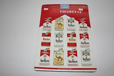 603R1-L15 Vintage 1980's Cigarette Pack Lighter Display 12 Lighters ManShack