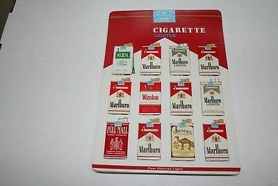 603R1-L17 Vintage 1980's Cigarette Pack Lighter Display 12 Lighters ManShack