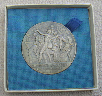 Sterling .925 Silver 1967 Israel Exodus Medal Coin Large Size by P. Vincze Lot