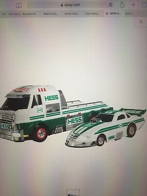 2 (two) Brand New In Box-2016 Hess Toy Truck and Dragster
