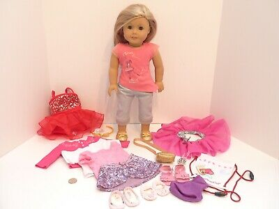 AMERICAN GIRL DOLL Isabelle GIRL OF YEAR 2014 W/ MEET OUTFIT Clothing Lot Shoes