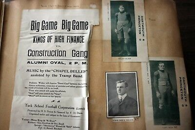 MASSIVE 1905-1909 DARTMOUTH COLLEGE SCRAPBOOK Ivy League SPORTS Programs TUCK