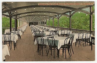 CONEY ISLAND PC Postcard NEW YORK CITY NYC NY Amusement Park CLAM BAKE Feltman